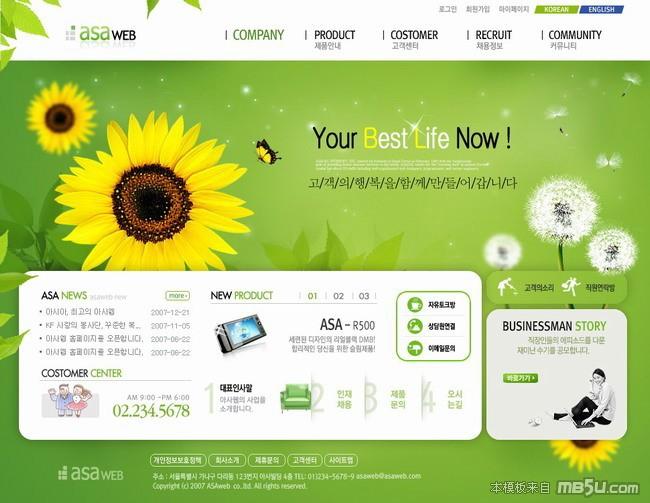 网页模板GR007预览图