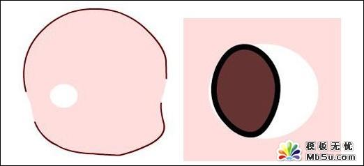Flash鼠绘教程:可爱大眼睛卡通女孩的绘制