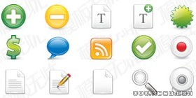 GIF图标素材-25张常用网站设计图标(ai)