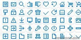 GIF图标素材-网页设计常用像素图标(多种格式)