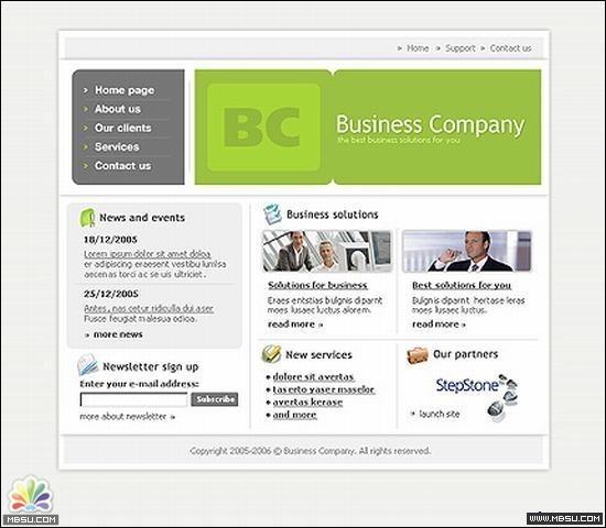 TemplateMonster 公司模板 图片模板下载