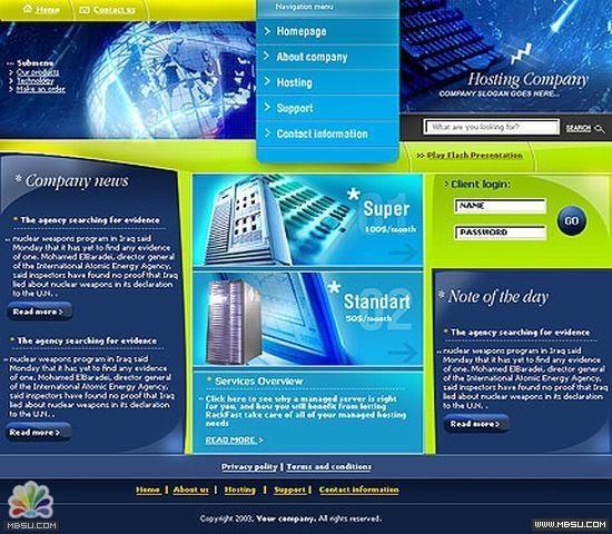TemplateMonster 主机模板 图片模板下载
