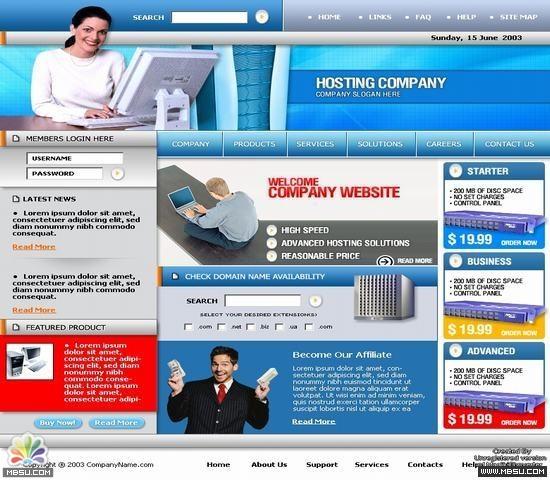 Templatesupply 主机模板 图片模板下载