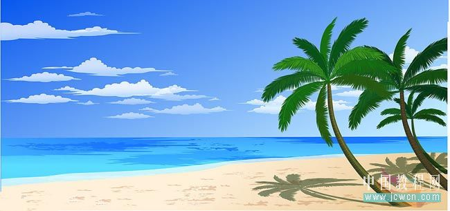 Flash鼠绘入门实例教程:绘制美丽风景画之海滩